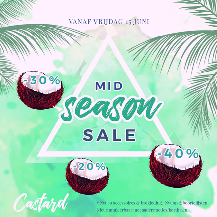 Mid Season Sale bij Castard: tot 40% korting!