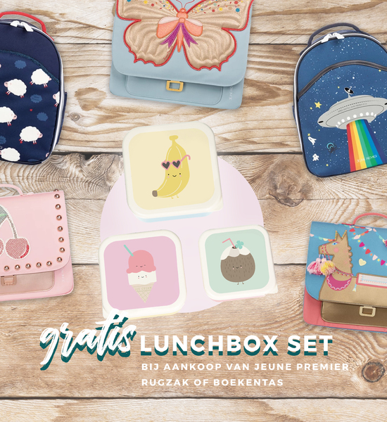 Gratis lunchbox set van 3